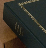 name embossed on the spine, small picture