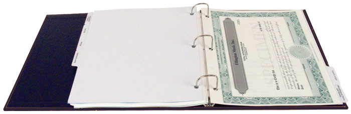 corporate or LLC kit binder