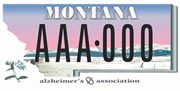 Alzheimer's Association Montana Chapter plate sample