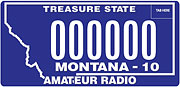 Amateaur Radio Operator plate sample