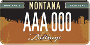 Big Sky Economic Development plate sample
