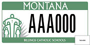 Billings Catholic Schools plate sample