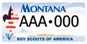 Boy Scouts of America, Montana Council plate sample
