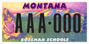 Bozeman School District Number 7 plate sample