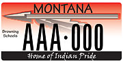 Browning Public Schools District Number 9 plate sample