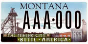 Butte Silver Bow Government plate sample