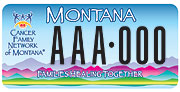 Cancer Family Network of Montana plate sample