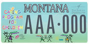 Caring Foundation of Montana plate sample