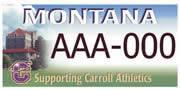Carroll College Saints Athletic Association plate sample