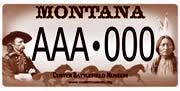 Custer Battlefield Museum plate sample