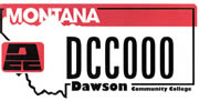 Dawson Community College plate sample