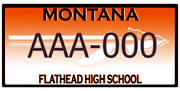 Flathead High School District Number 5 plate sample