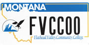 Flathead Valley Community College plate sample