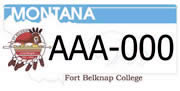 Fort Belknap College plate sample