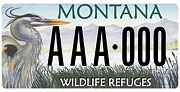 Friends of Lee Metcalf National Wildlife Refuge plate sample
