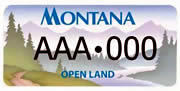 Gallatin County Open Lands Board plate sample