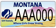 Girl Scouts of Big Sky Council plate sample