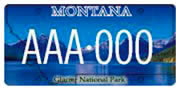Glacier National Park plate sample