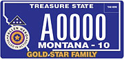 Gold Star Family plate sample