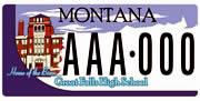 Great Falls Public Schools plate sample