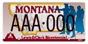 Lewis & Clark Bicentennial plate sample