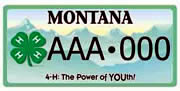 Montana 4-H Foundation plate sample