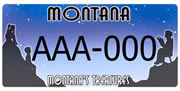 Montana Council on Aging plate sample