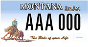 Montana Cutting Horse Association plate sample