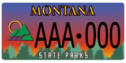 Montana Fish, Wildlife & Parks Foundation plate sample