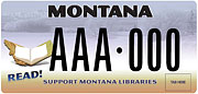 Montana Library Association plate sample