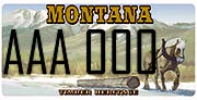 Montana Logging Association plate sample