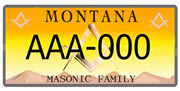 Montana Masonic Foundation plate sample