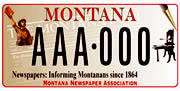 Montana Newspaper Foundation plate sample