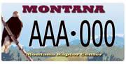 Montana Raptor Conservation Center plate sample