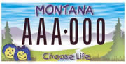 Montana Right To Life plate sample