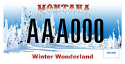 Montana Snowmobile Association plate sample