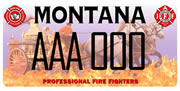 Montana State Council of Professional Fire Fighters plate sample