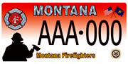 Montana State Fire Chiefs' Association plate sample