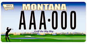 Montana State Golf Association plate sample