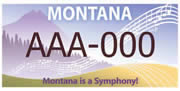 Montana Association of Symphony Orchestras plate sample