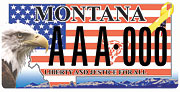Montana Veterans Affairs Division plate sample