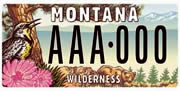 Montana Wilderness Association plate sample