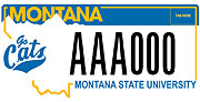 MSU Go Cats plate sample
