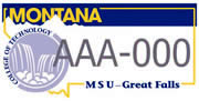 MSU Great Falls College of Technology plate sample