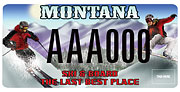 National Ski Patrol Montana Snowbowl plate sample