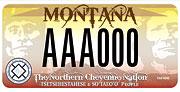 Northern Cheyenne Tribe plate sample