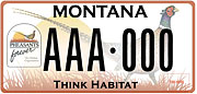 Pheasants Forever, Inc. plate sample
