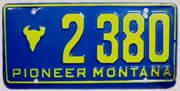 Montana Pioneer plate sample