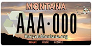 Recycle Montana plate sample