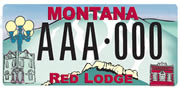Red Lodge Area Chamber of Commerce plate sample